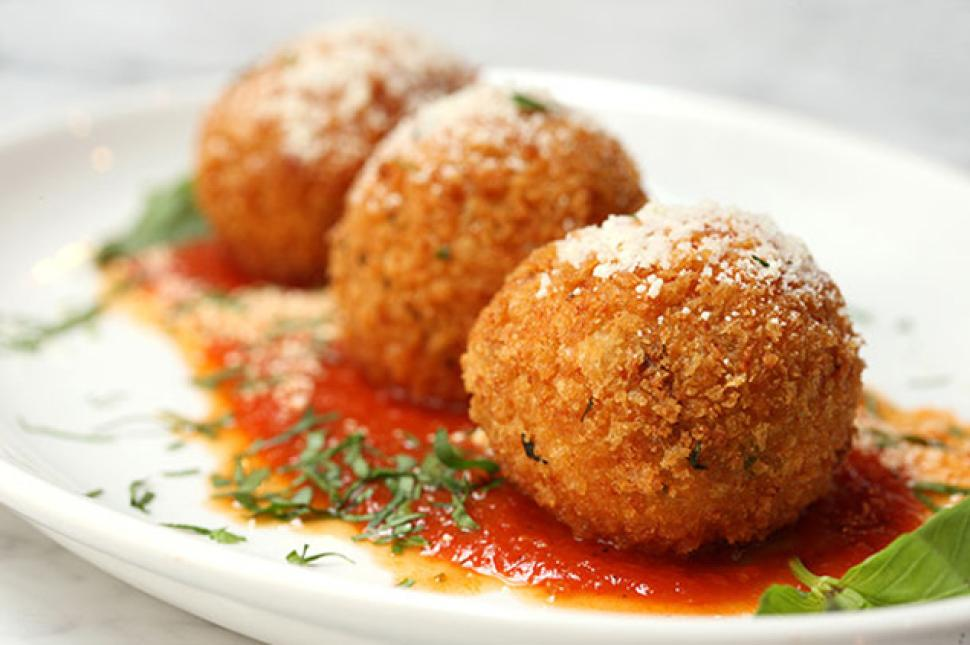 Chef Steven Gallo will serve his passed-down family recipes, including Baby Rice Balls at Galli Restaurant.