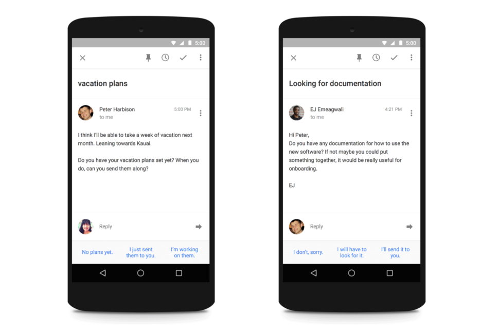 google machine learning email